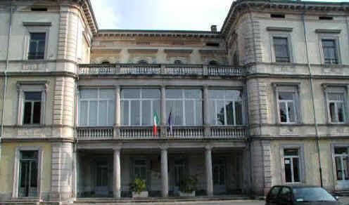 facciata della villa